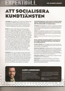 Expert article in TelekomIdag